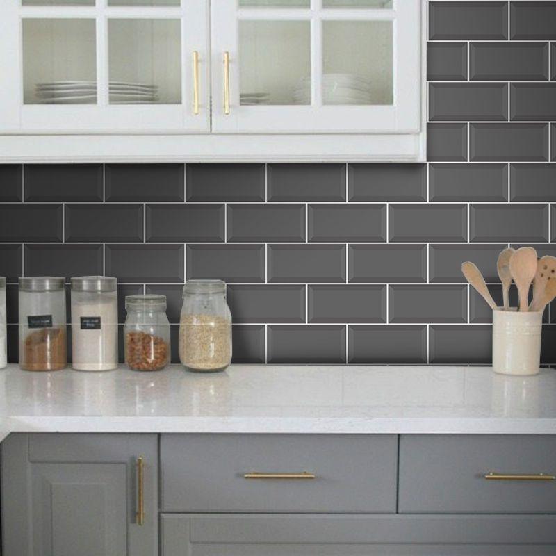 Queima de Estoque - Papel de Parede Azulejo para Cozinha Metrô Várias Cores  - TaColado