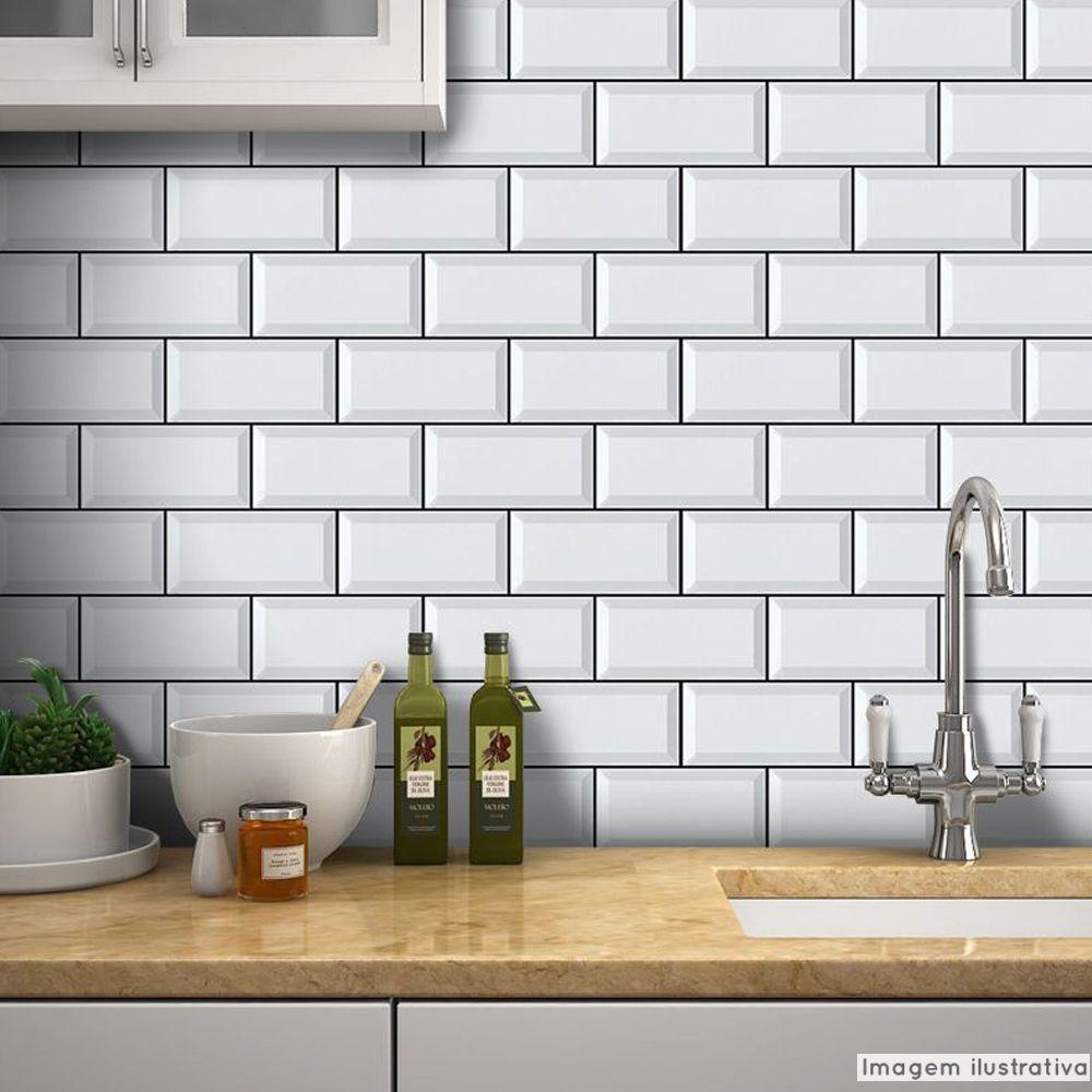 Papel de Parede Azulejo para Cozinha Metrô - Várias Cores  - TaColado