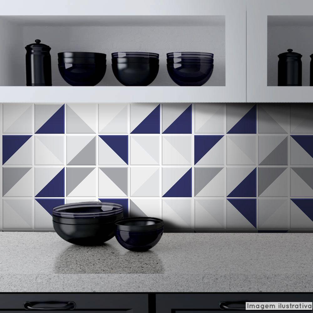 Papel de Parede Azulejo para Cozinha Retângulo - Várias Cores  - TaColado