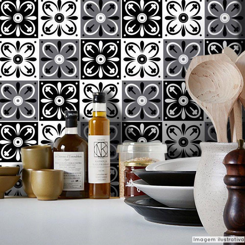 Papel de Parede Azulejo para Cozinha Tortosa - Várias Cores  - TaColado