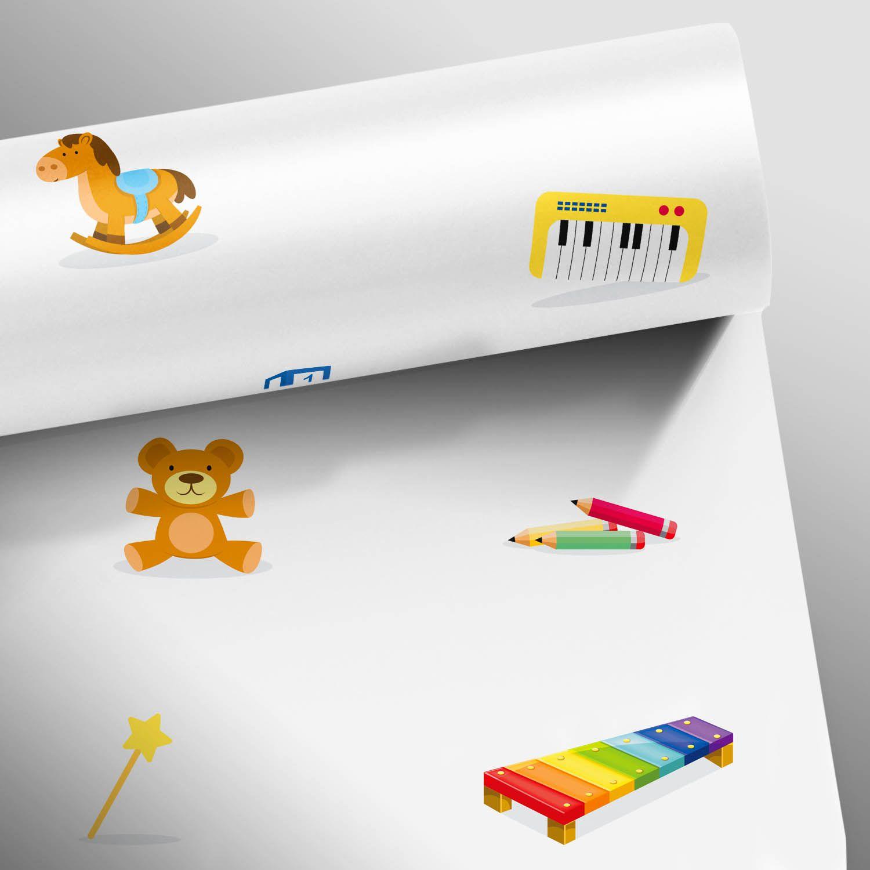 Papel de Parede Brinquedos - Várias Cores  - TaColado