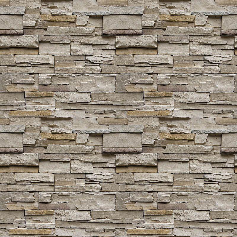 Queima de Estoque - Papel de Parede Pedra Canjiquinha Natural  - TaColado