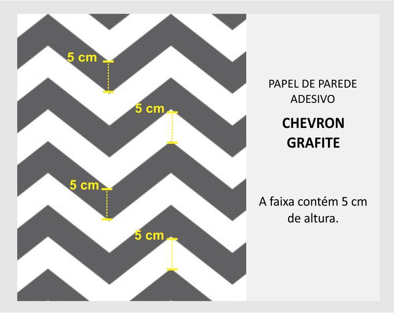 Black November  - Papel de Parede Chevron Classic Grafite  - TaColado