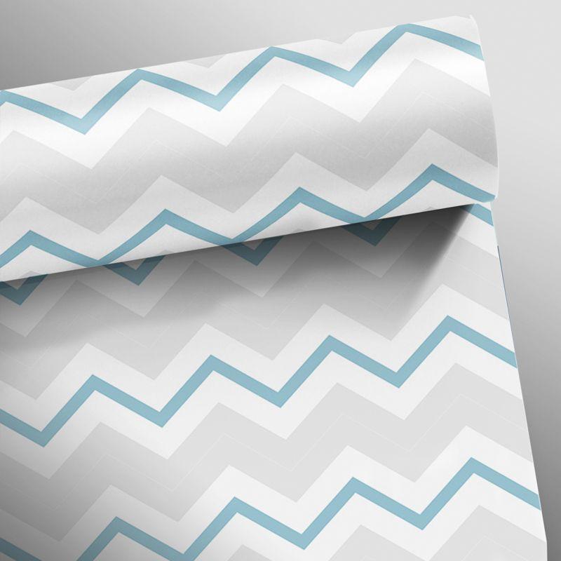 Promoção  - Papel de Parede Chevron Slim Turquesa - Kit 03 rolos  - TaColado