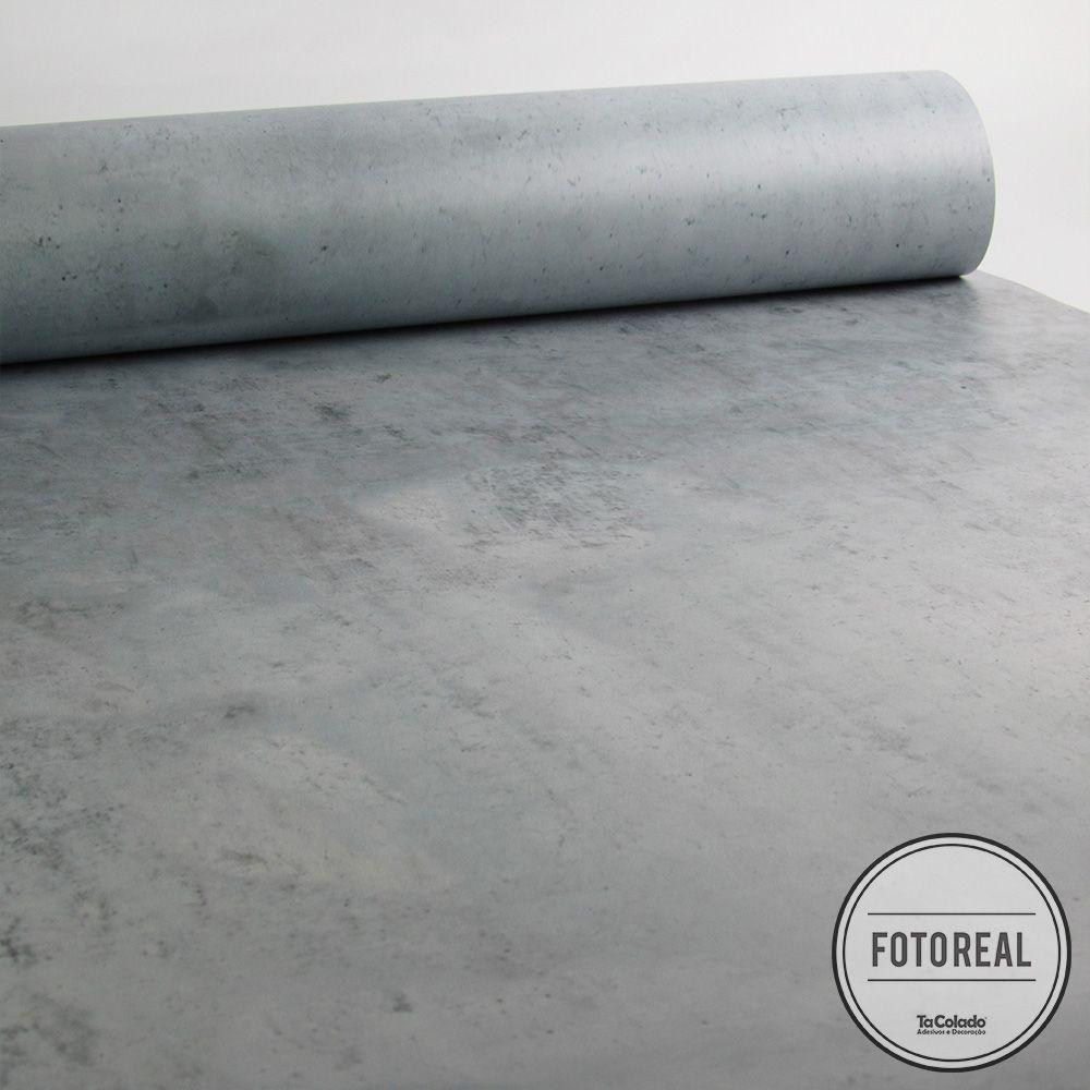 Black November - Papel de Parede Pedra Concreto - Kit com 03 rolos  - TaColado