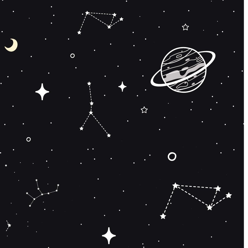 Papel de Parede Constelações - Várias Cores  - TaColado
