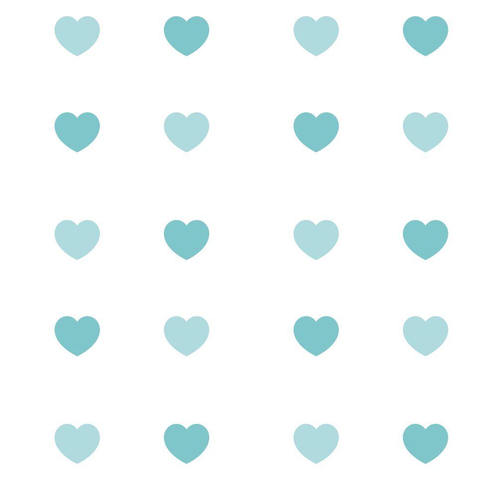 Papel de Parede Corações - Várias Cores  - TaColado