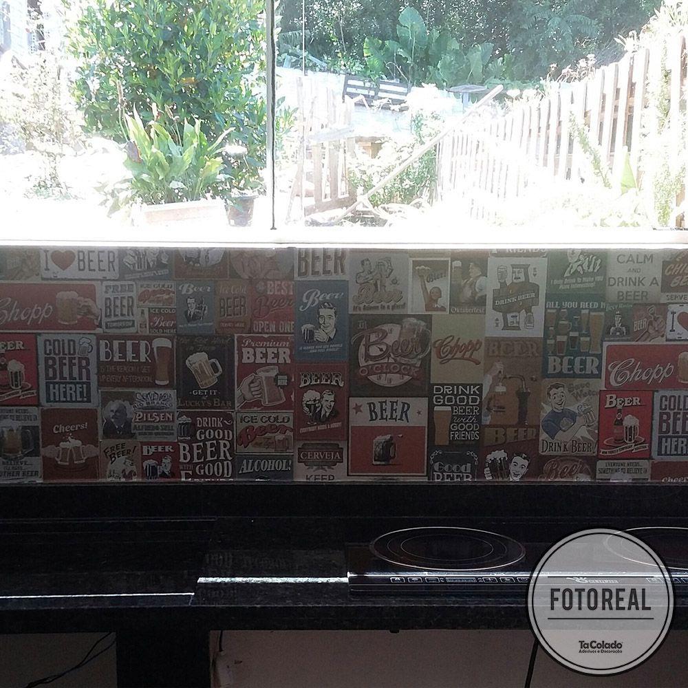 Papel de Parede Vintage Drink Beer  - TaColado