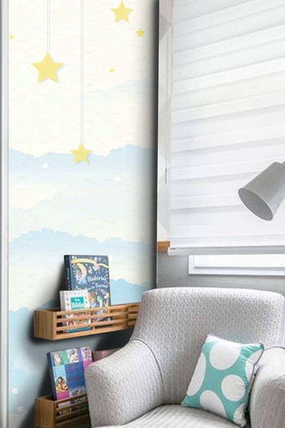 Outlet - Mural Estrelas - Parte 01 0,58 x 3,00m  - TaColado