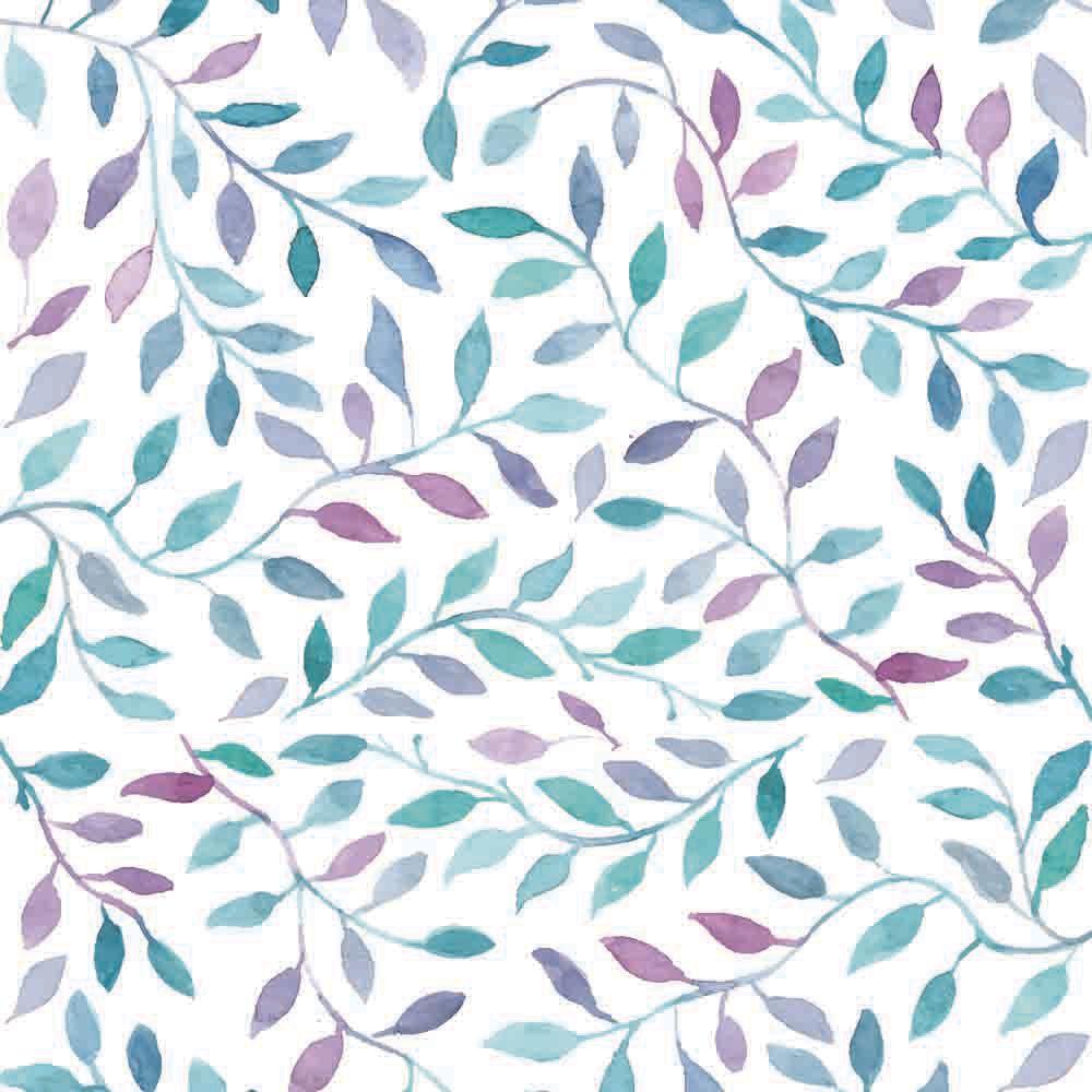 Papel de Parede Floral Aquarela  - TaColado