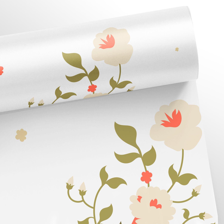Papel de Parede Floral Modern - Várias Cores  - TaColado