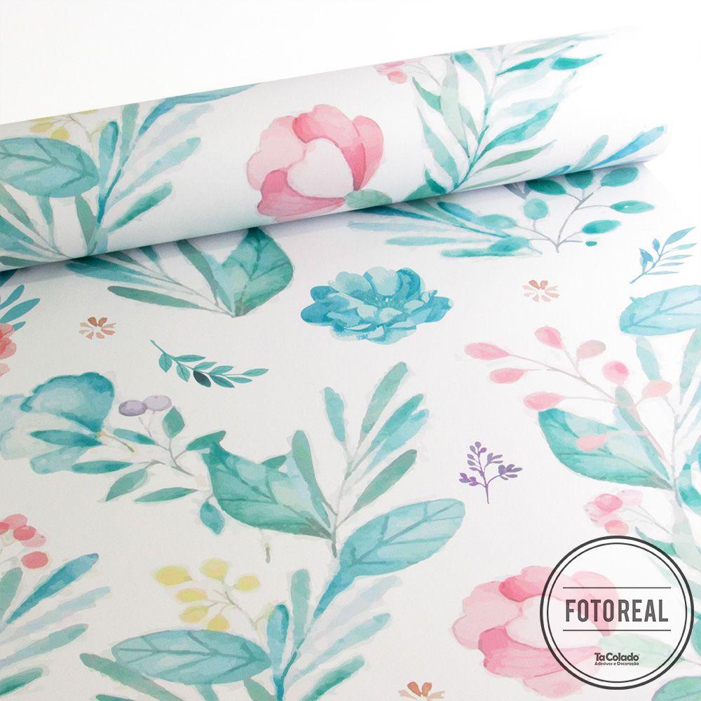 Papel de Parede Floral Ternura  - TaColado