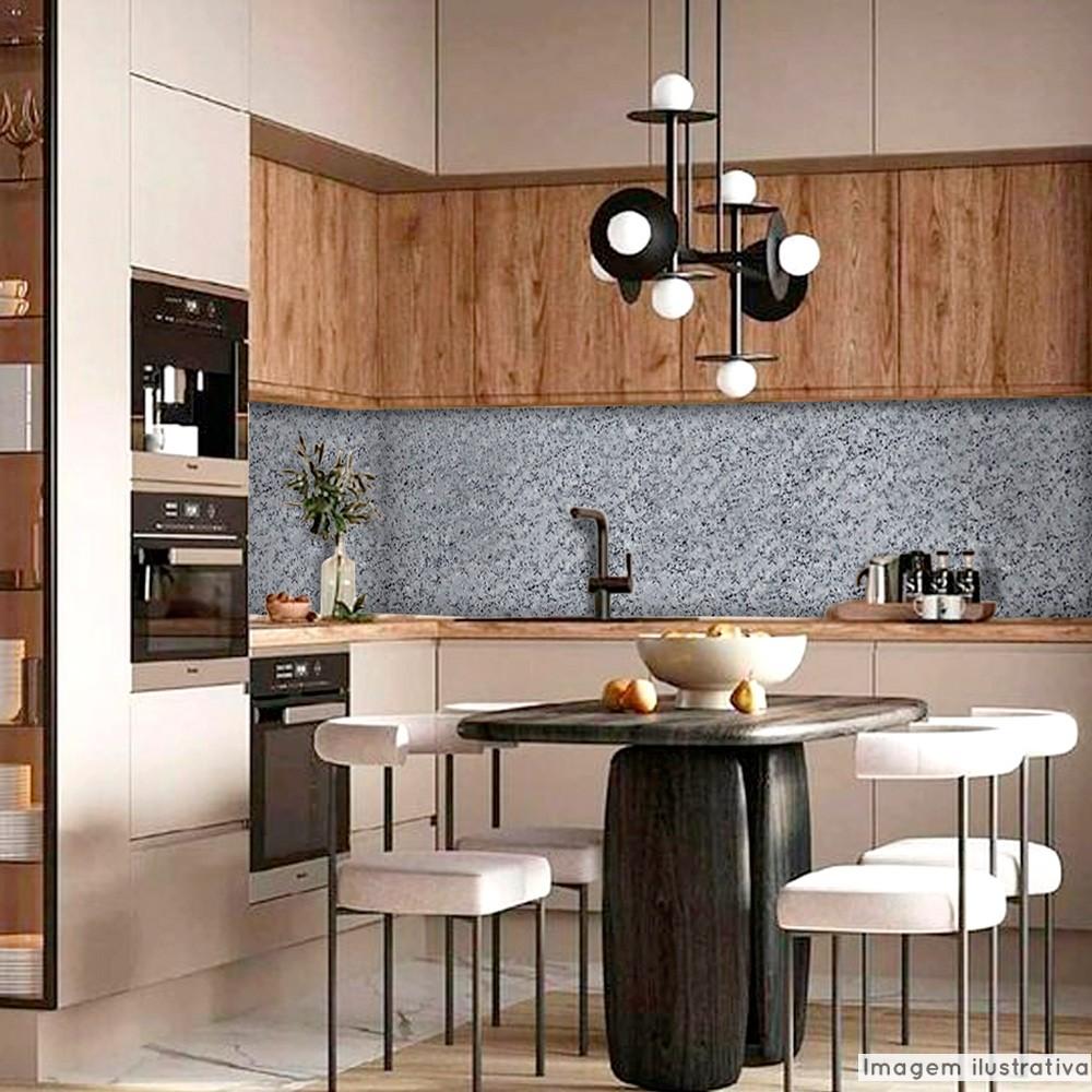 Papel de Parede Lavavel para Banheiro Cozinha Revestimento Brilho Pedra Cinza Nobre  - TaColado