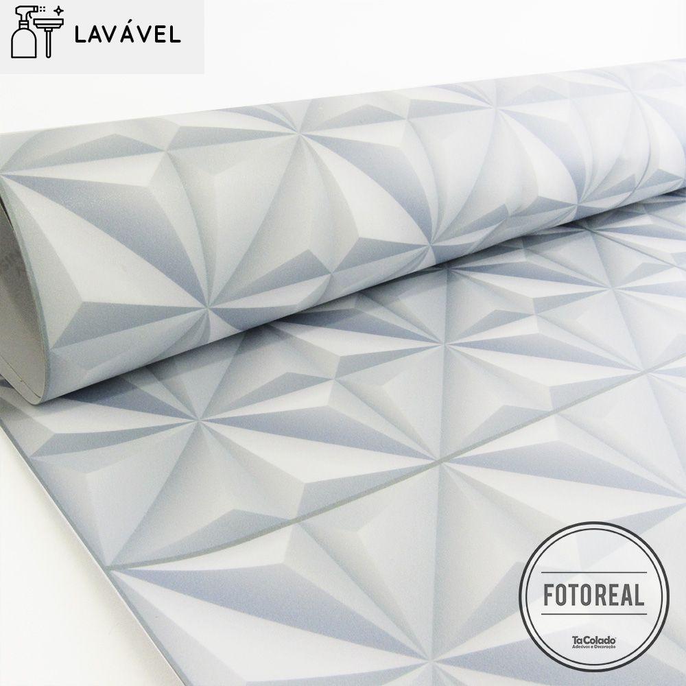 Papel de Parede Lavavel para Banheiro Revestimento 3D Division  - TaColado