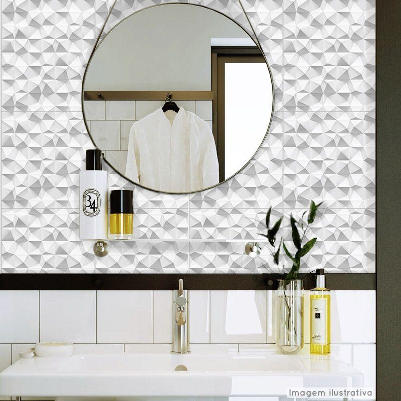 Papel de Parede Lavavel para Banheiro Revestimento 3D Kite  - TaColado