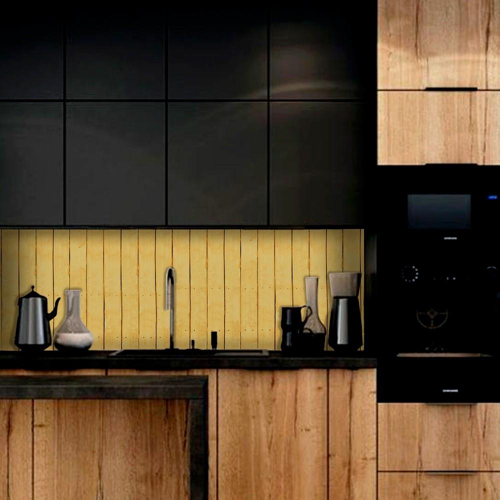 Outlet - Papel de Parede Lavavel para Cozinha Revestimento Fosco Madeira Riga Nova 0,58x2,65m  - TaColado