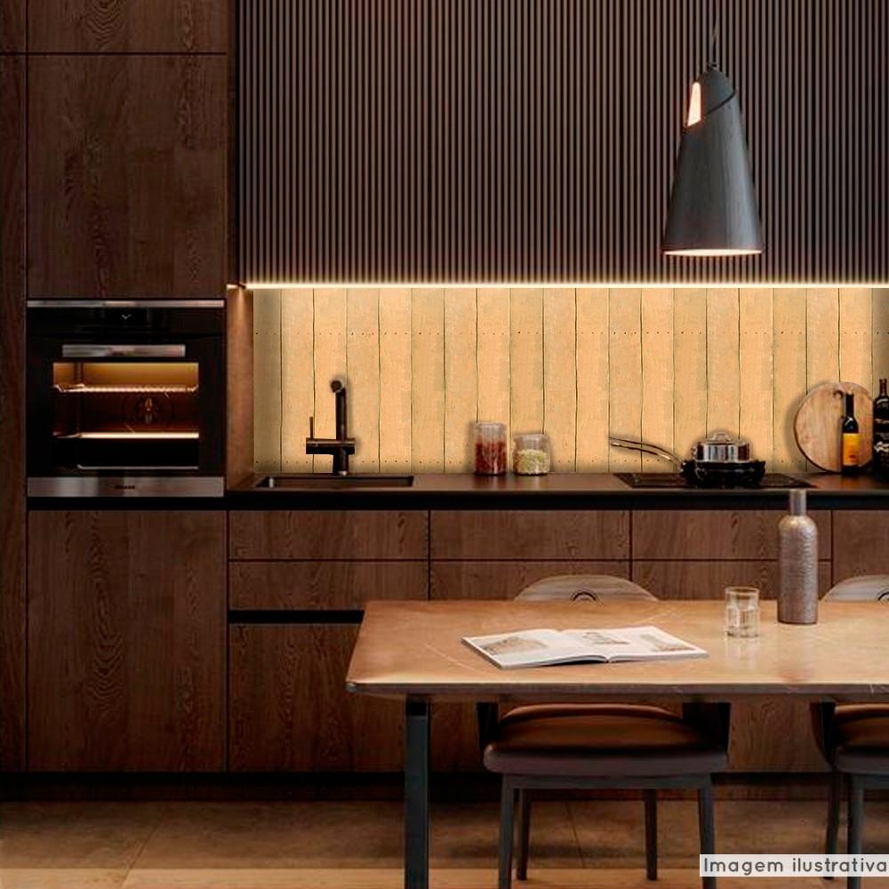 Papel de Parede Lavavel para Banheiro Cozinha Revestimento Fosco Madeira Cambará  - TaColado