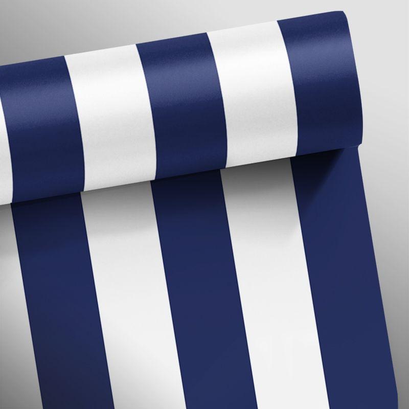 Queima de Estoque - Papel de Parede Listras Fortes Classic Azul Marinho  - TaColado