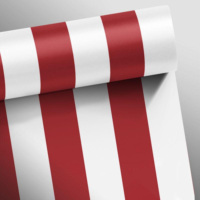 Outlet - Papel de Parede Listras Fortes Classic Vermelho 0,58 x 2,75m  - TaColado