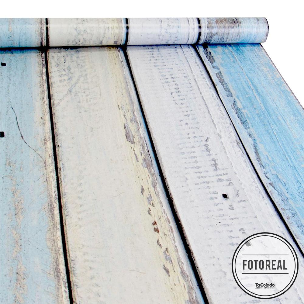 Papel de Parede Madeira Demolição - Várias Cores  - TaColado