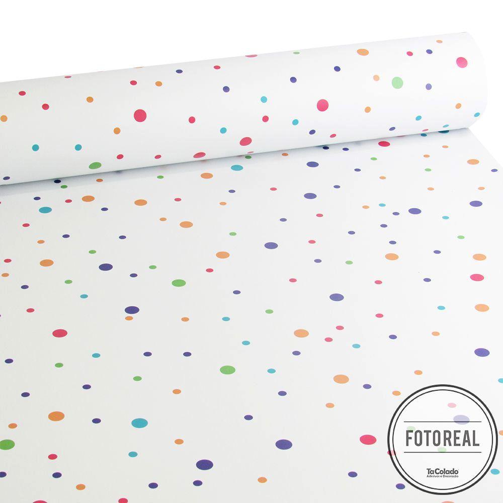 Papel de Parede Minimalista Confete - Várias Cores  - TaColado