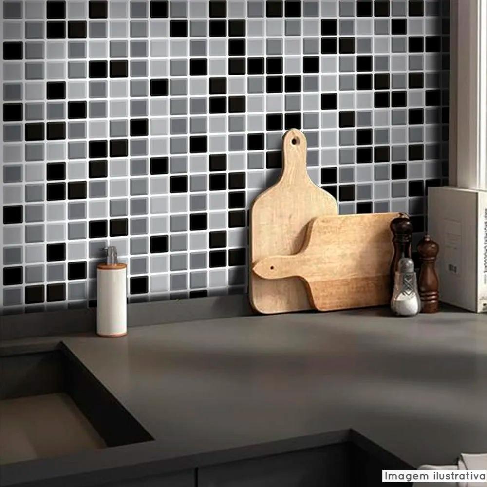 Papel de Parede Pastilha para Cozinha 3D Mix - Várias Cores  - TaColado