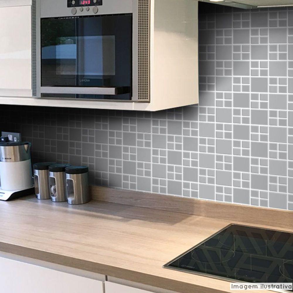 Papel de Parede Pastilha para Cozinha Big - Várias Cores  - TaColado