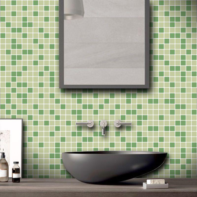 Papel de Parede Pastilhas para Cozinha Mix Verde Claro 0,58 x 2,00m
