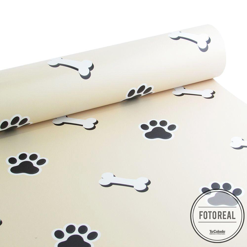 Papel de Parede Pet Shop Patas Cachorro - Várias Cores  - TaColado