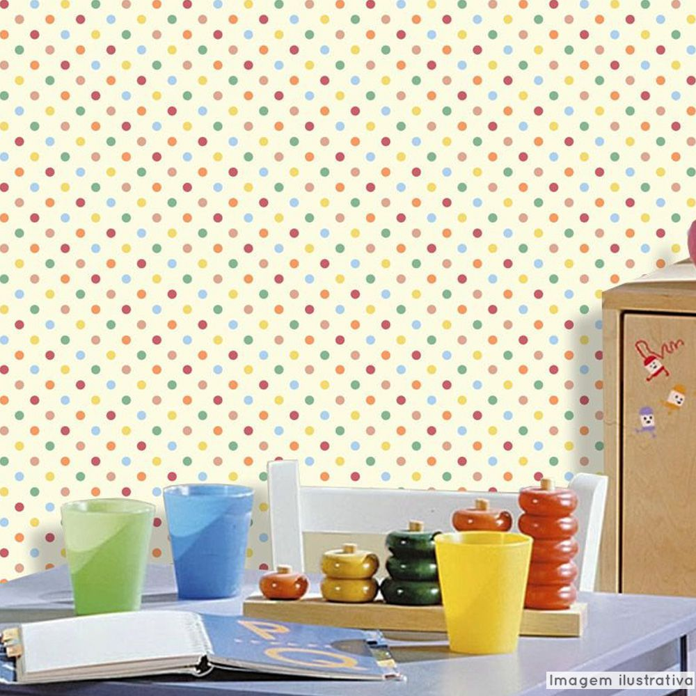 Papel de Parede Poá Color - Várias Cores  - TaColado