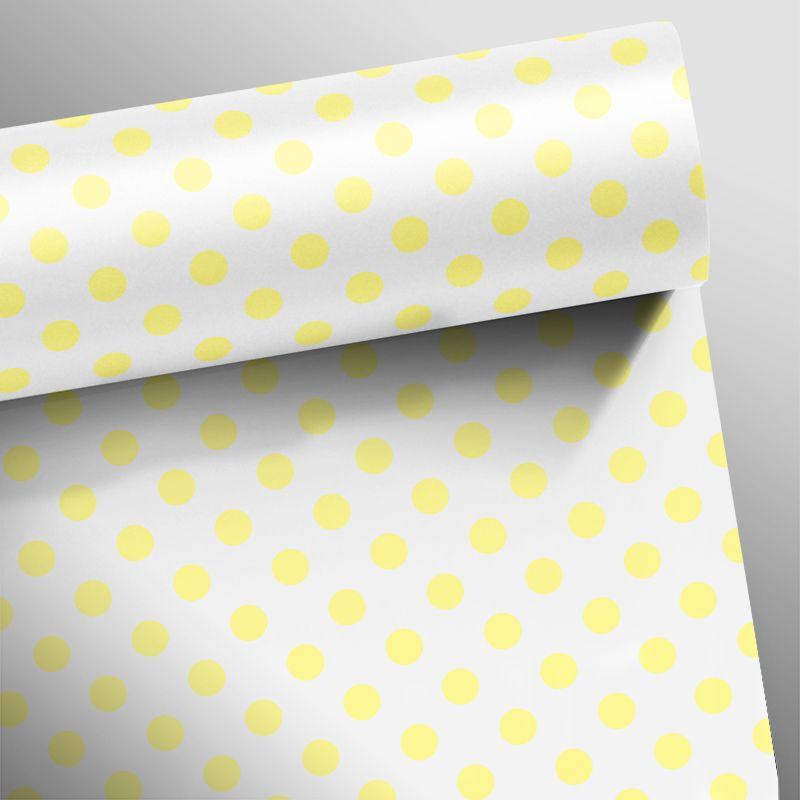 Queima de Estoque - Papel de Parede Poá Soft Amarelo Claro  - TaColado