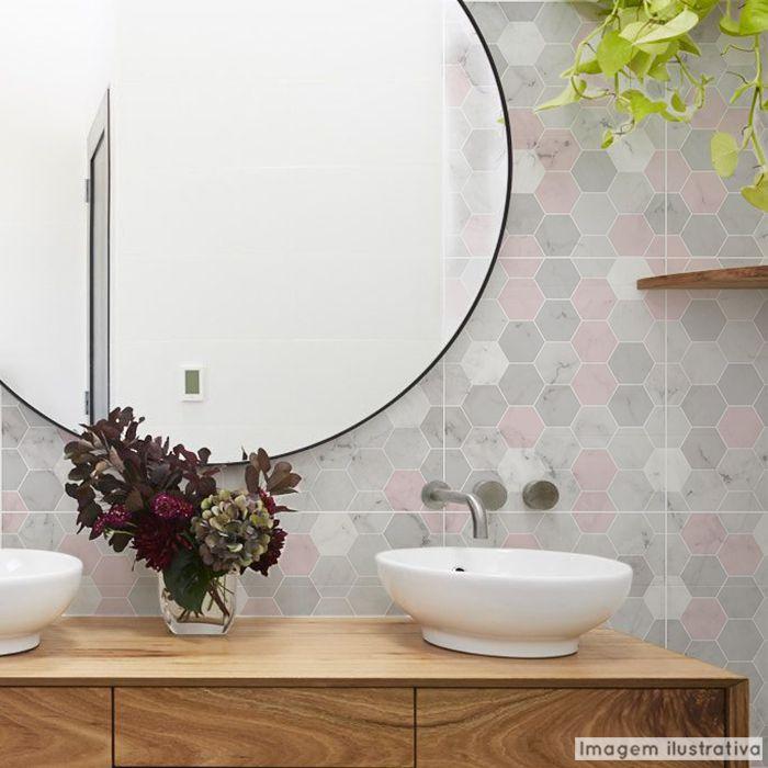 Papel de Parede Lavável para Banheiro Revestimento Mármore Mix  - TaColado