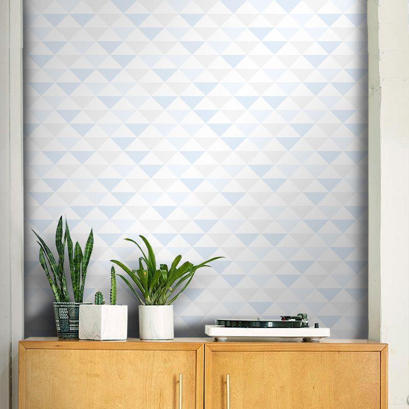 Papel de Parede Triângulo Azul Claro 0,58 x 2,55m
