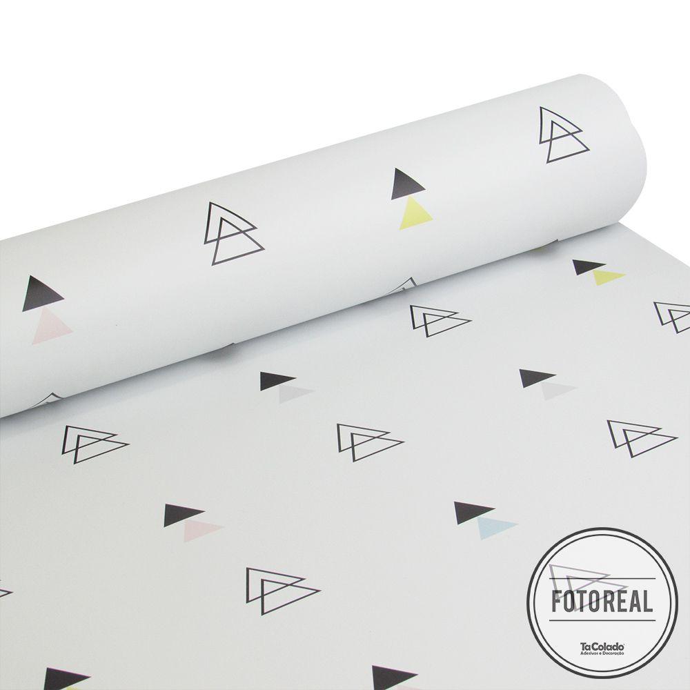 Papel de Parede Triângulo Soft  - TaColado