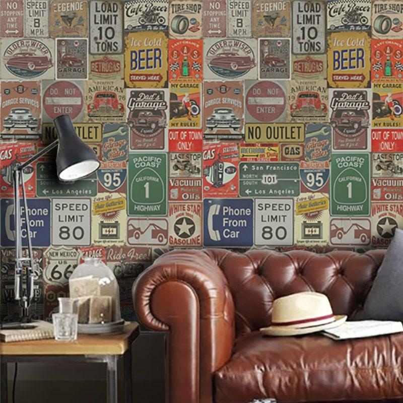 Promoção  - Papel de Parede Vintage Garagem  - TaColado