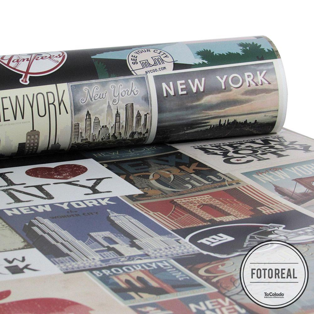 Papel de Parede Vintage New York  - TaColado