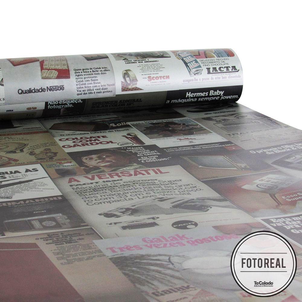 Papel de Parede Vintage Revistas  - TaColado