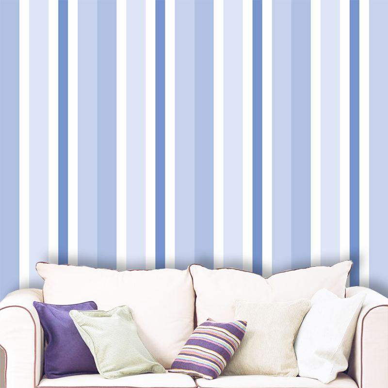 Papel de Parede Listras Média Azul 0,58 x 3,00m