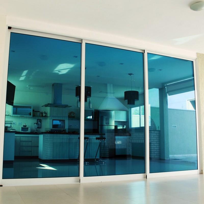 Pelicula para vidro espelhado Azul Royal 0,75m  - TaColado