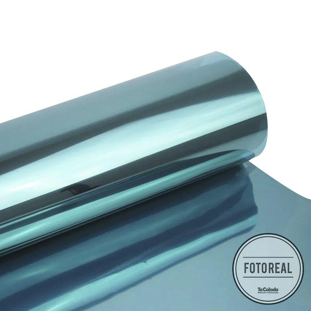 Película Solar Espelhado Azul 0,50m  - TaColado