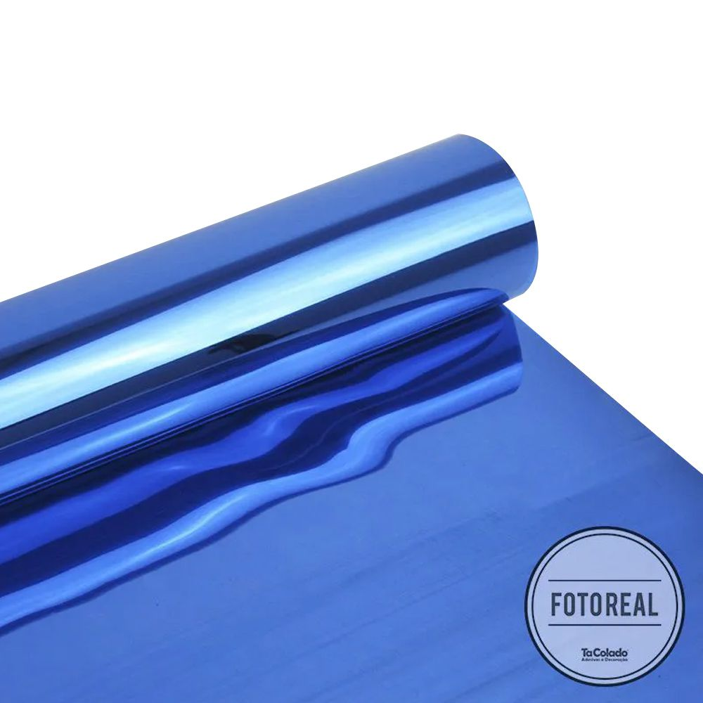Película Solar Espelhado Azul Royal G05 0,50m  - TaColado