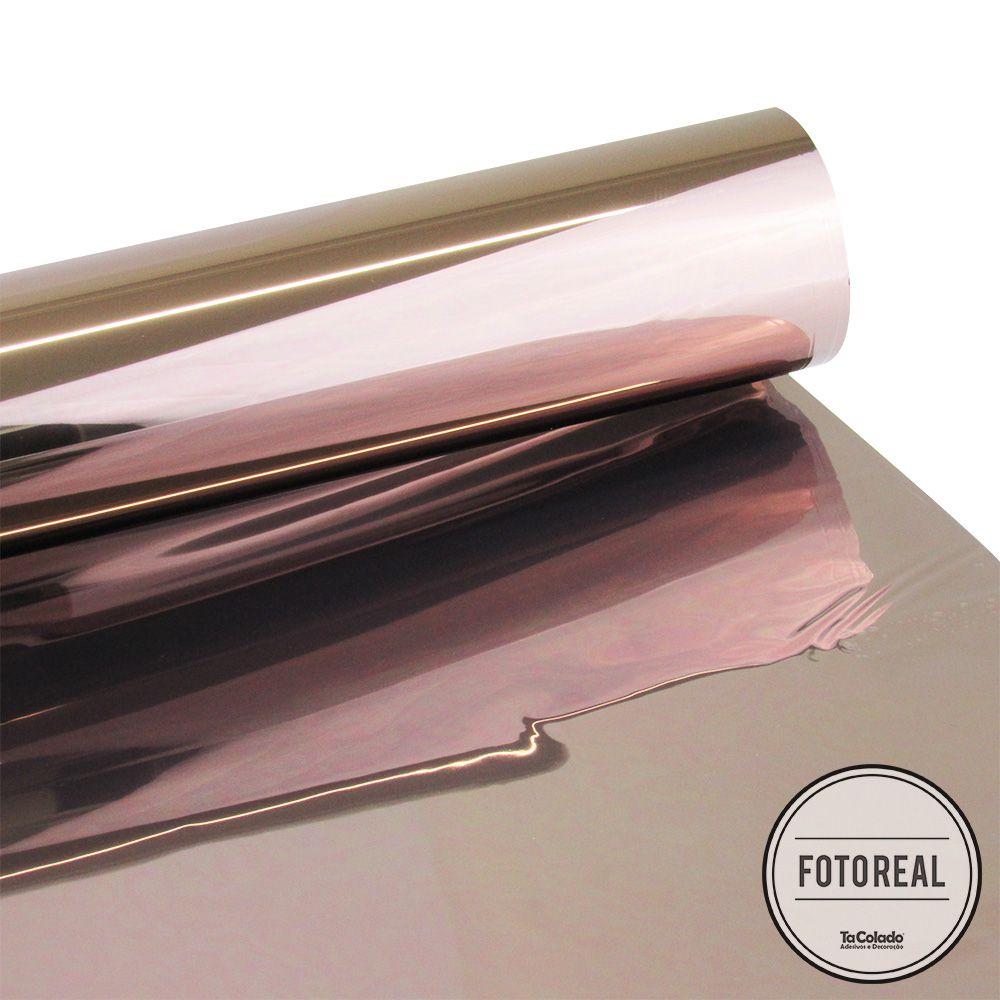 Película Solar Espelhado Bronze 0,50m  - TaColado