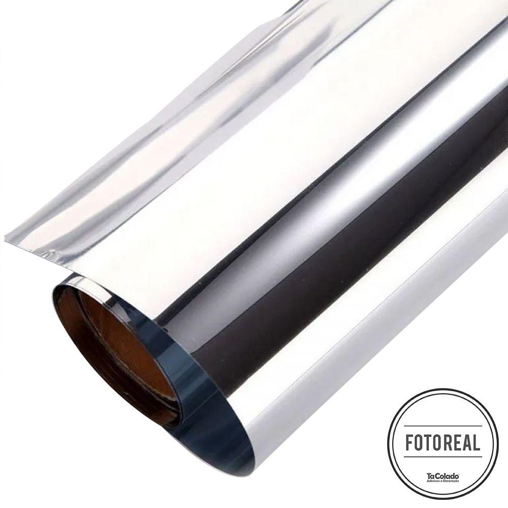 Película Solar Espelhado Prata G05 0,75m  - TaColado