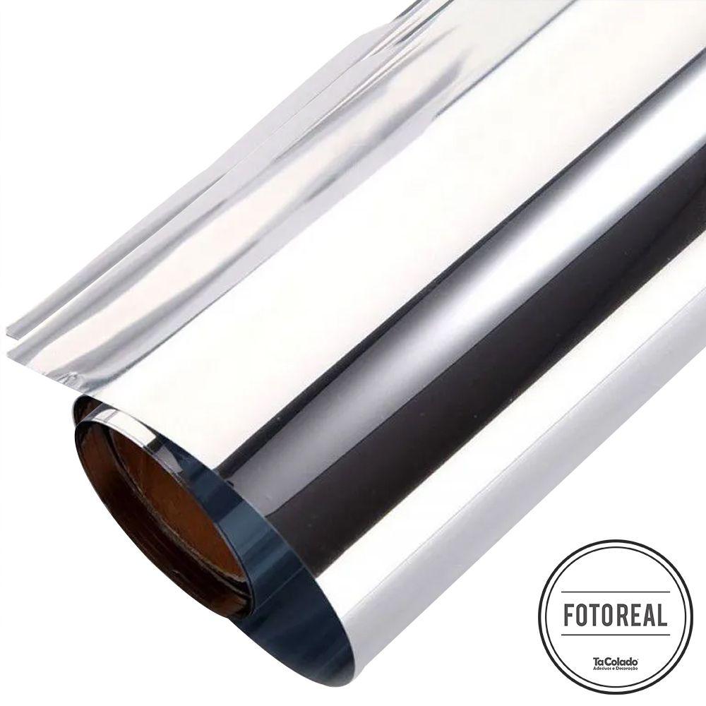 Película Solar Espelhado Prata G20 0,50m  - TaColado