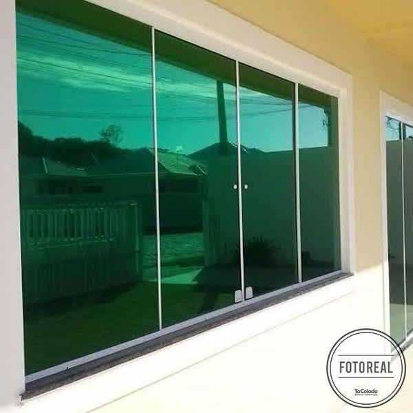 Película Solar Espelhado Verde 0,50m  - TaColado