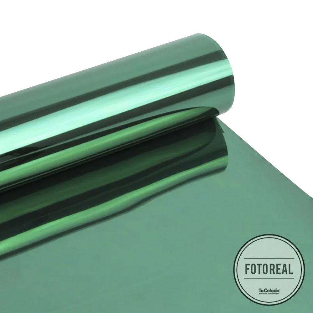 Película Solar Espelhado Verde 0,75m  - TaColado