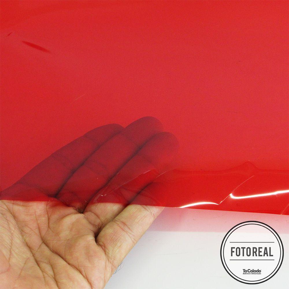Película Solar Espelhado Vermelho 0,50m  - TaColado