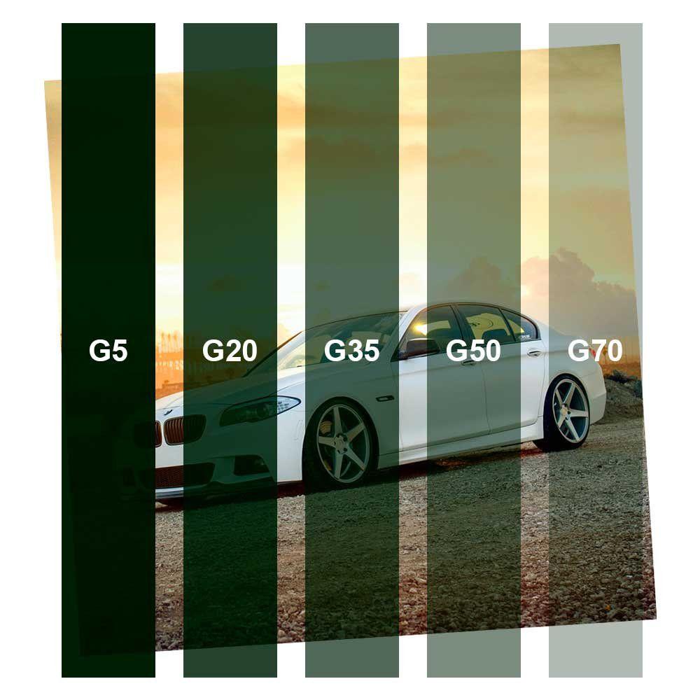 Película Solar Verde Oliva G35 1,52m  - TaColado