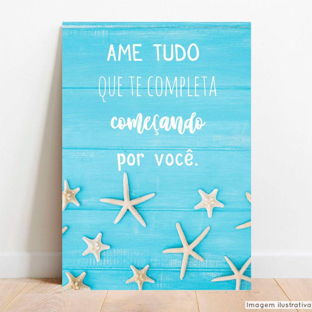 Placa Decorativa Ame Tudo  - TaColado