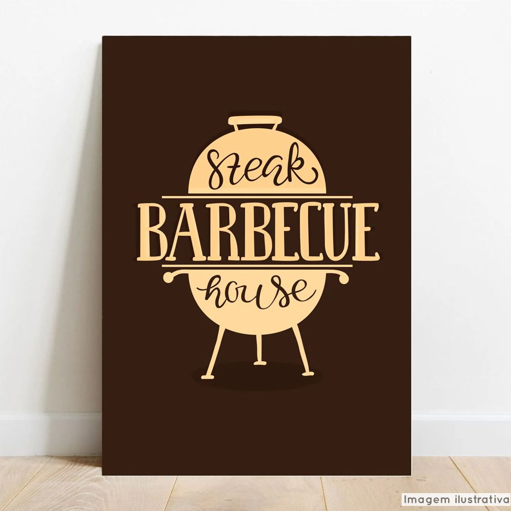 Placa Decorativa Barbecue  - TaColado